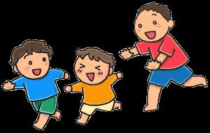 遊ぶ子どもたちイラスト