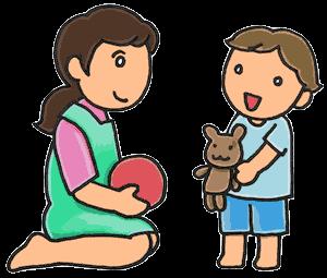 保育士と子どもイラスト