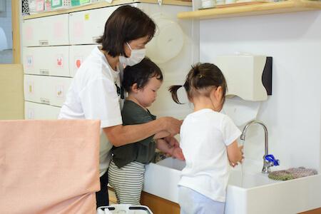 手を洗って感染予防